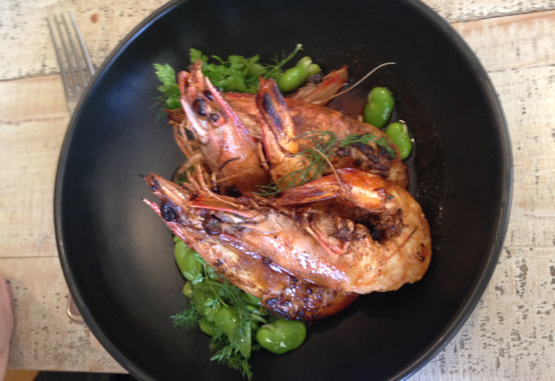 Muse Kitchen Hunter Valley prawns