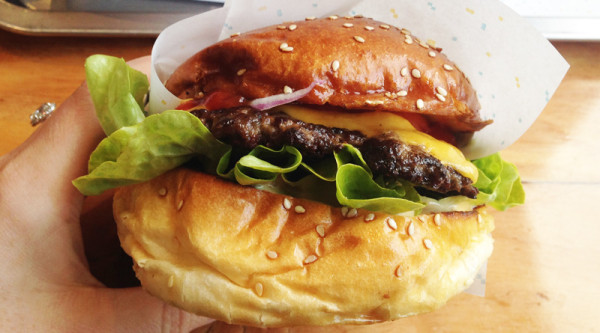 Melbournes Best Burger 8Bit burger with cheese